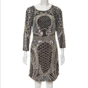 Black Parker mid-sleeve mini dress NWT